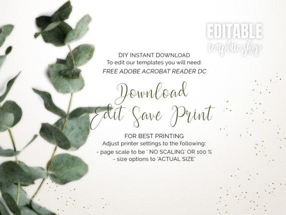 Printable Floral Invitation Template Editable Invitation Template Woman Birthday Invitation Blank Invitation Template Elegant Invite