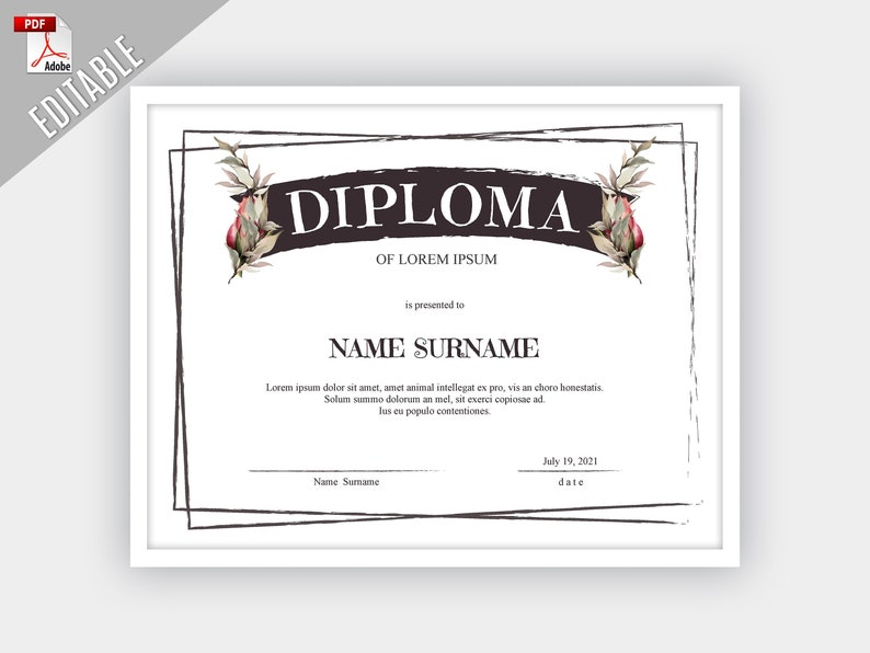 graphic about Printable Diploma Template identified as Printable Certification Template, Certification EDITABLE Template, Editable Certification, Printable Degree Template, Reward Certification