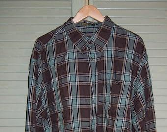 Orvis Twill Plaid Shirt/ 2X