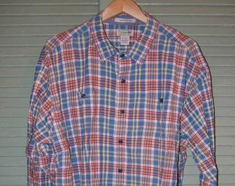 LL Bean Plaid Shirt/ 2X Tall