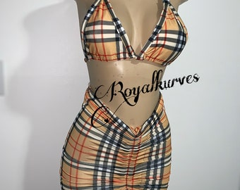 db2897d8196 Burberry inspired bathing suit