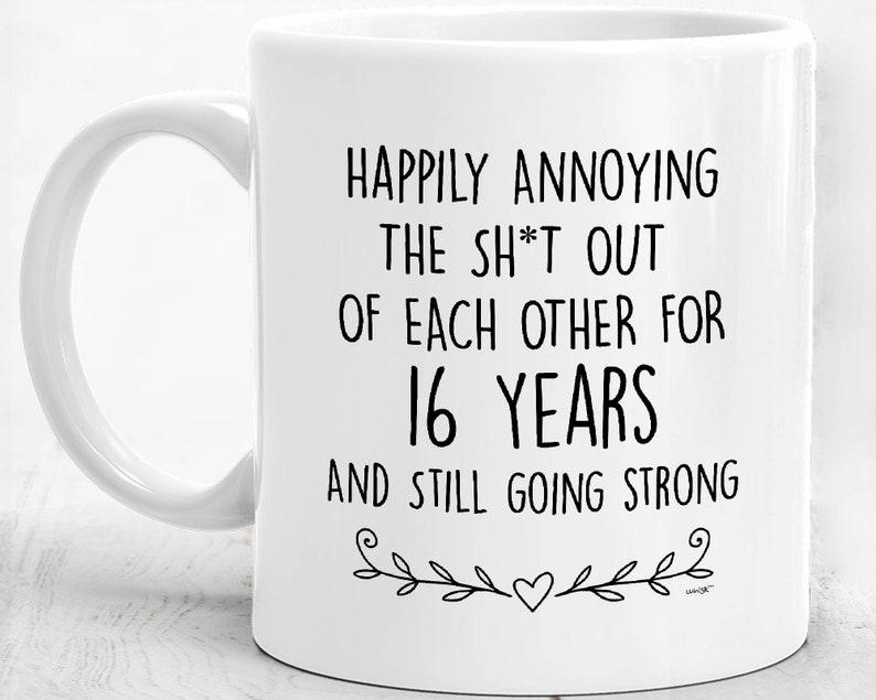 16th Anniversary Mug Happy 16th Anniversary Gifts For Men ...