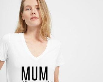 """Mommy T-shirt/Custom """"Mum wife and world"""" Tee/Women's Graphic Shirt"""