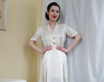 137c2371be 1930s 1940s wartime wedding dress satin goodness