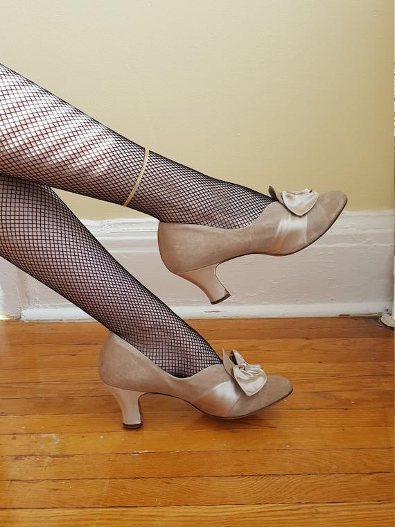1930s Daniel Green art deco high heels size 8.5 /