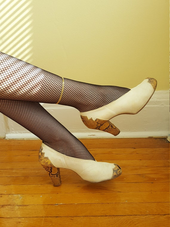 1930s art deco spectator high heels size 8 - 8.5