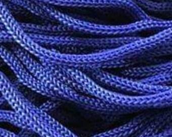 Blue fuchsia paracord cord 3mm Multi colored multicolored Braided cord Para cord