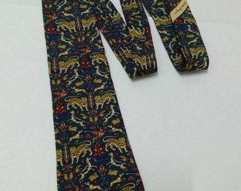 Salvatore Ferragamo Necktie Multi Wild Animal Print 100% Silk Men Ties Made  in Italy 508ab153c967f