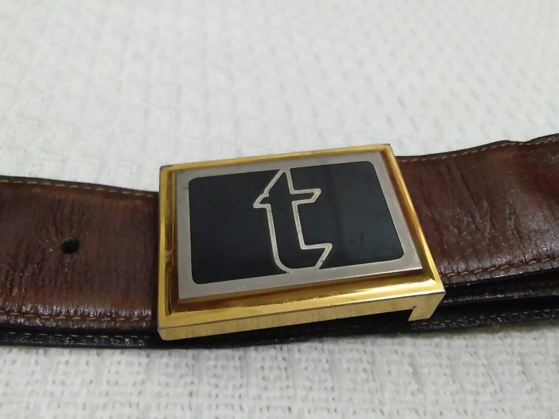 Authentic A.Testoni Mens Leather Belt Made in Italy Size 32-38 Solid Brass BuckleA.Testoni Leather BeltLeather BeltsMens Leather Belts