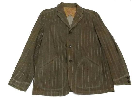 Alexander Julian Denim Striped Core Jacket Size L/