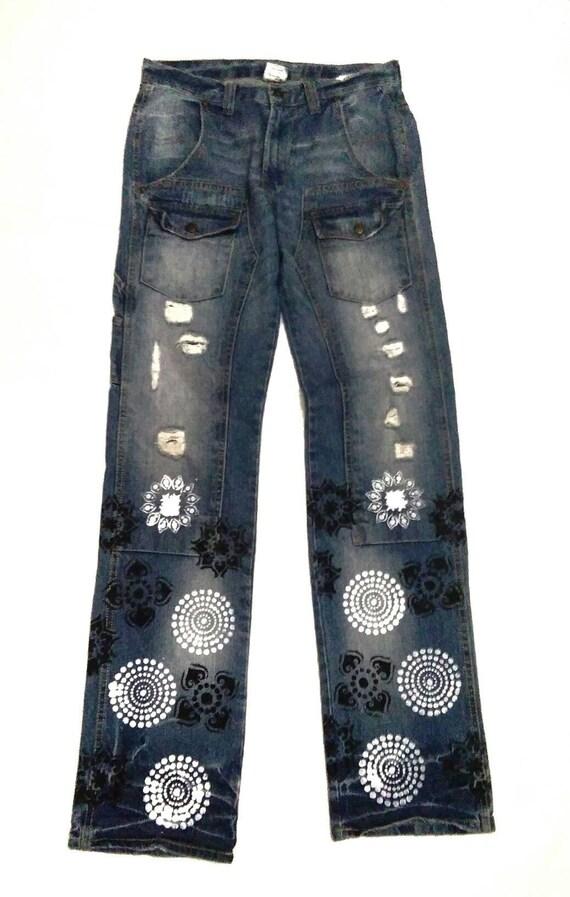 Free Gate Bush Pant Custom Hand Painted Style Deni
