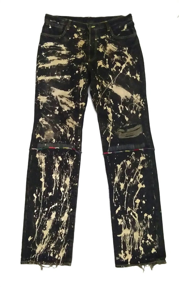 Private Brand AG Disstressed Ripped Bleached Denim