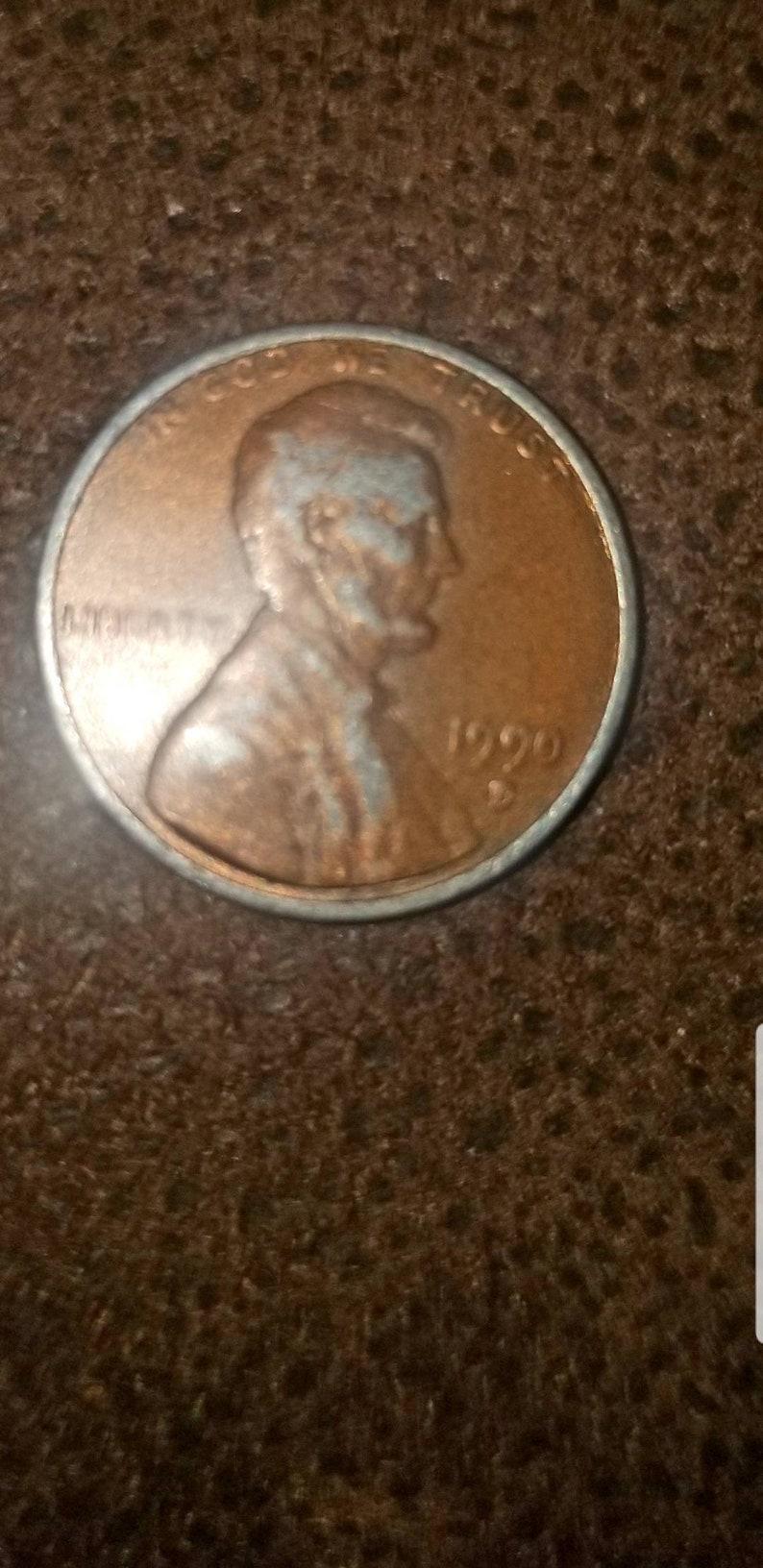 1990 zinc error penny wrong planchet