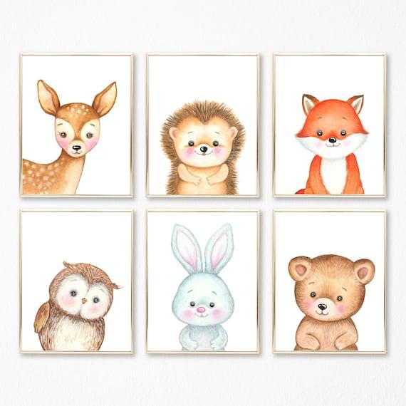 Woodland Themed Nursery Art Nursery Wall Art Baby Room Wall Art Baby Shower Gift Woodland Wall Decor Baby Nursery Wall Decor Prints