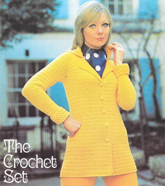 Ladies Cardigan Pattern Vintage Crochet Cardigan Retro Crochet Etsy