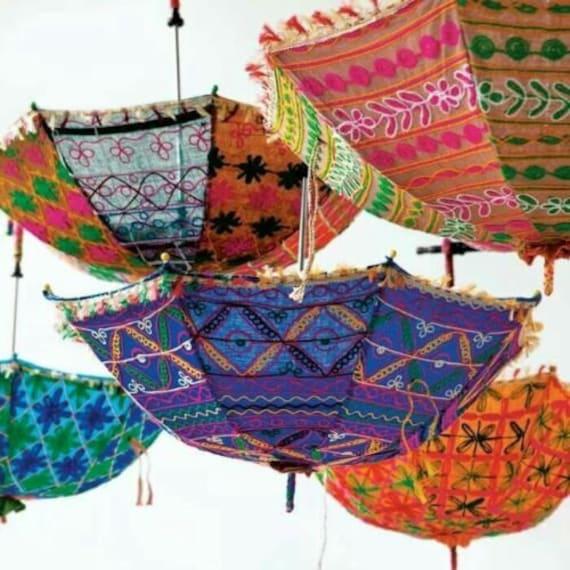 5 Pcs Wholesale Lot Parasol Indian Umbrella Decorative Wedding Bridal Shower