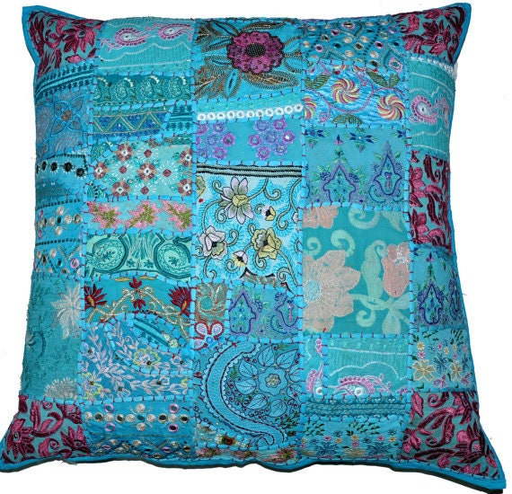 20 x 20 large Blue Decorative bed pillows throw Pillows for bed dining  chair cushions floor sitting cushions rocking chair large pillows