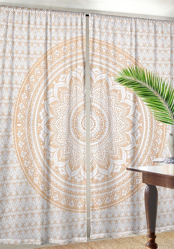 Sonne Mandala Baumwolle Vorhang Fenster Balkon Behandlung Indisch Tür Vorhänge