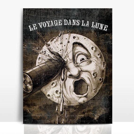 Le voyage dans la lune 1902 French movie poster print