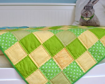 Baby quilt,  Crib quilt,   Baby patchwork, Crib  size quilt, Baby  blanket, handmade