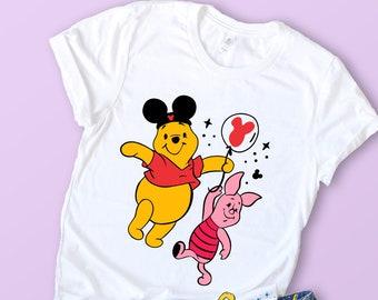 1720d117 Winnie The Pooh Shirt, Pooh and Piglet Shirt, Mickey Balloon Shirt, Best  Friends Shirt