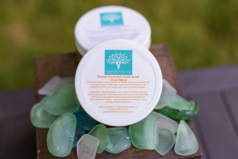 Orange Creamsicle Sugar Scrub- exfoliating scrub- body scrub- sugar scrub-  natural bath and body - Gift for girlfriend- Gift for mom- Dogwo