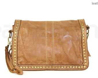 56fe299d3d63 MATILDE LEATHER HANDBAG Italian Leather Handmade