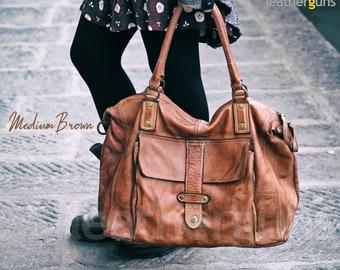 OLIVIA LEATHER SHOULDER Bag Unisex Oversized Handbag  73f1cf180b785