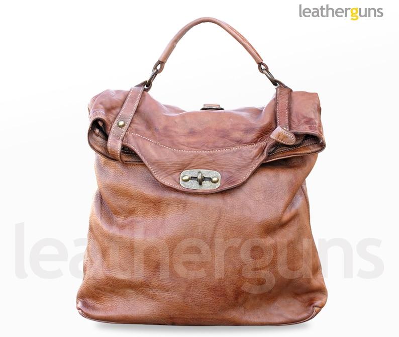66e7d1177b33e CARLOTTA LEATHER BAG Convertible Backpack Shoulder Bag | Etsy