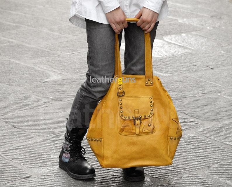 Big Leather Purse Woman Shoulder Bag Crossbody Bag Vintage Leather Bag Italian Leather Bag Handmade Tote Bag STELLA LEATHER HANDBAG