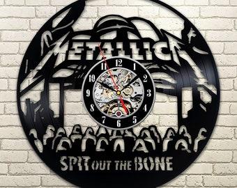 Metallica Rock Music Band Wall Art Wall Clock Vintage Metallica Lp Room Decor Gift For Fan Vinyl Record Wall Clock Wall Clock Large & Rock band wall art | Etsy