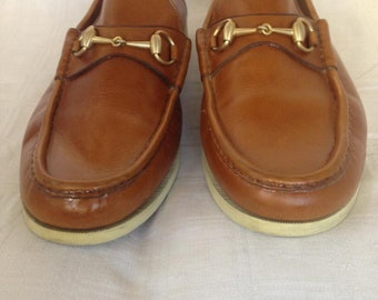 39e2f1fcdf4 GUCCI Used Brown Horsebit Leather Loafer PERFECT CONDITION