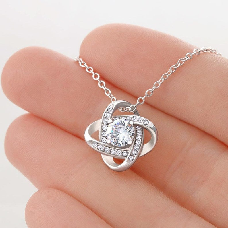 My Greatest Gift Of All Gift For Daughter Love knot Necklace