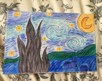 Starry Starry Night Watercolor