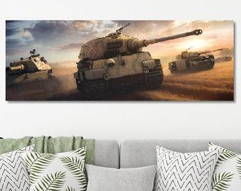 Panzer King Tiger E100 Panter IV Wehrmacht, poster poster, German tank Kingtiger, tank fight Wagon VI B, World War Two