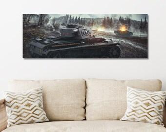Panzer III German Wehrmacht, poster poster, German tank tank fight wagon, World War Two