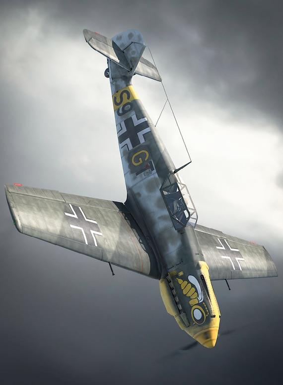 Poster 50 x 70 cm Messerschmitt Bf 109 Luftwaffe Wehrmacht