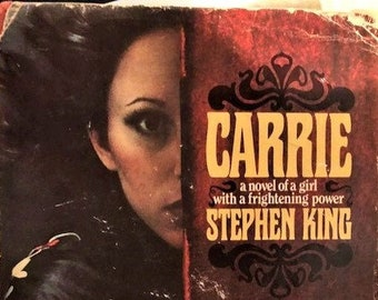 Stephen King hardbound early edition 'Carrie' with dust jacket. 1974