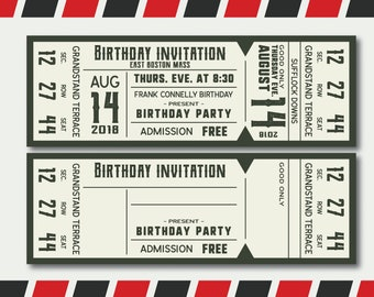 Concert Ticket Templates In Svg Ready To Print Editable High Quality Png Dxf And Eps Format Instant Download