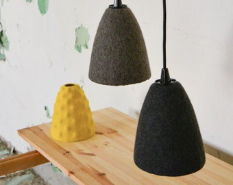 Ikea Kronleuchter Hack ~ Lampenschirm für pendelleuchte filz rot ikea hack etsy
