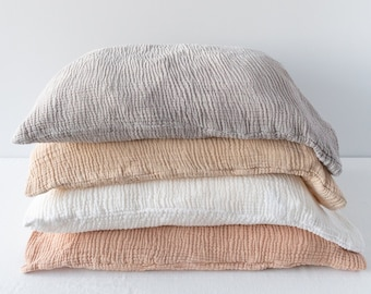 Organic cotton PILLOWCASE - naturally dyed with plants