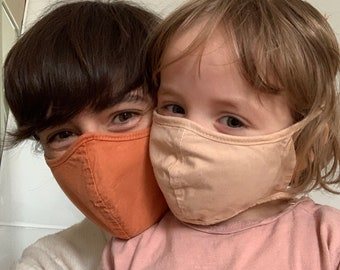 FACE MASK for kids - Organic cotton and natural dye