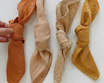 NAPKINS made from organic cotton muslin. Naturally dyed with plants.