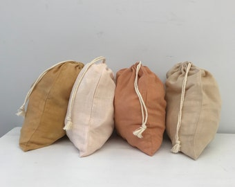 Reusable organic cotton and bamboo bag. Naturally dyed.