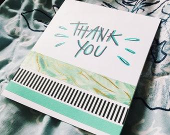 thank you card // aqua wave