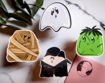 LIMITED TIME Halloween Buddies Sticker Pack! | Mummy, Spooky Season, Fall, Dracula, cute, Waterproof, Frankenstein, Horror, Monster, Ghost