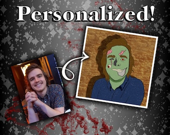 """LIMITED TIME 3"""" Zombie Portrait Sticker 