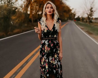 45127ac5fcee Floral maxi dress with sleeves