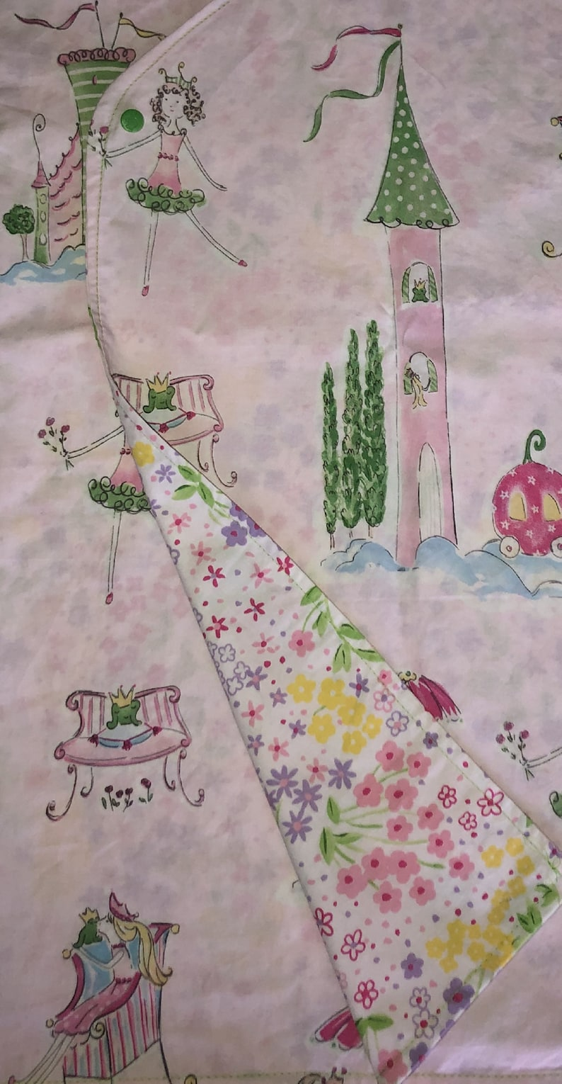 Child Size 67 Hospital Gown Princess and the FrogFlower Garden