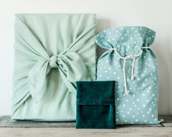 Ensemble d'emballages réutilisables aqua/sarcelle